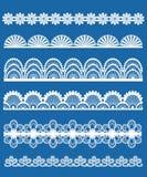 Koronka ornamenty ustawiający Obraz Royalty Free