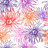 Koronkowa elegancja kwitnie bezszwowego wzór royalty ilustracja