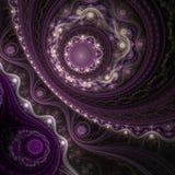 Koronkowa fractal krzywa, cyfrowa grafika ilustracja wektor