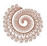 Koronkowa krzywa - ukierunkowywa islamskiego henna ornament Mehendi arabski wektor ilustracji