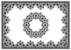 Koronkowa okregów kwiatów rama Zdjęcia Stock