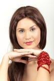 koronkowa ręki czerwień Fotografia Royalty Free