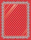 Koronkowa rama z szkłem na tło polki kropkach Zdjęcie Royalty Free