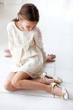Koronkowa suknia Obraz Stock