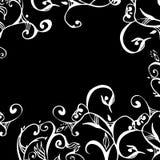 koronkowe granicznych kwitnie zwoju Obrazy Stock