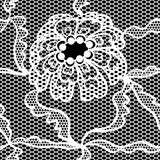 Koronkowej wektorowej tkaniny bezszwowy wzór Obrazy Royalty Free