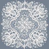 Koronkowi doily wzory. Z elementów abstrakcjonistycznymi kwiatami. royalty ilustracja