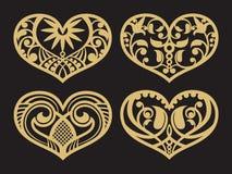 Koronkowi serca, papierowi kształty kochają wektorowych symbole ilustracja wektor