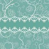 Koronkowy bezszwowy wzór z perłami Zdjęcia Stock