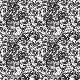 Koronkowy bezszwowy wzór z kwiatami Zdjęcie Royalty Free
