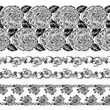 Koronkowy deseniowy projekta set Zdjęcie Stock