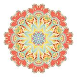 Koronkowy deseniowy tło z indyjskim ornamentem Fotografia Stock