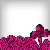 Koronkowy deseniowy tło Fotografia Stock