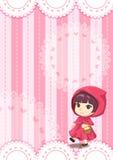 Koronkowy deszczowów dzieci tło ilustracja wektor
