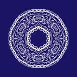 Koronkowy kurenda wzór ilustracja wektor