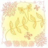 Koronkowy kwiecisty wzór Fotografia Stock