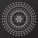 Koronkowy mandala projekta wzoru wektor Zdjęcie Stock