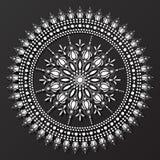 Koronkowy mandala projekta wzoru wektor Fotografia Stock