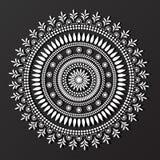 Koronkowy mandala projekta wzoru wektor Zdjęcia Stock