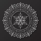 Koronkowy mandala projekta wzoru wektor Obraz Royalty Free