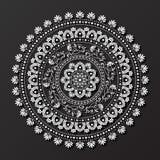 Koronkowy mandala projekta wzoru wektor Obrazy Royalty Free