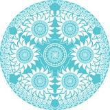 koronkowy ornamentacyjny round ilustracja wektor