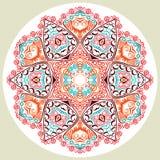koronkowy ornamentacyjny round royalty ilustracja