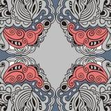 Koronkowy Paisley abstrakcjonistyczny art deco celta retro wzór Retro wzór może używać dla tapetowego wnętrza ilustracja wektor