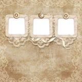 Koronkowy rocznika tło Zdjęcia Royalty Free