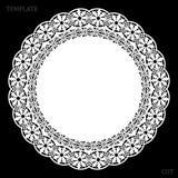 Koronkowy round papieru doily, wita element dekorować tort, laseru rżnięty szablon, doily, ilustracji