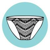 Koronkowy seksowny wektorowy stanik. Obrazy Royalty Free