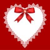 Koronkowy serce Obraz Royalty Free
