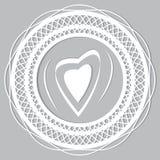 Koronkowy serce Zdjęcia Royalty Free