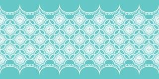 Koronkowy wzór na turkusowym tle Zdjęcie Stock
