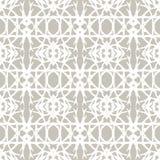 Koronkowy wzór z białymi kształtami w art deco stylu Obrazy Royalty Free