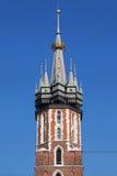 Koronowany wierza St Mary kościół fotografia stock