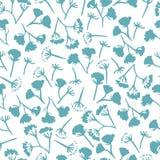 Koronowego koperkowego kwiatu bezszwowy wzór Zdjęcia Royalty Free