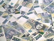 koronuje pieniądze czeskie notatki Zdjęcia Stock