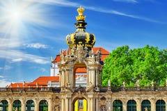 Korony bramy piedestał dla Polskiej korony Zdjęcie Royalty Free