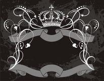 Korony dekoracyjna etykietka ilustracji