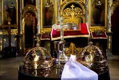 Korony dla kościelnego ślubu Obraz Royalty Free