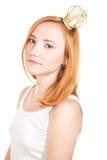 korony dziewczyny rudzielec fotografia stock