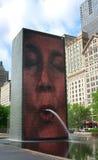 Korony fontaine Chicago Obraz Royalty Free