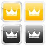 korony ikony kwadrat Fotografia Stock