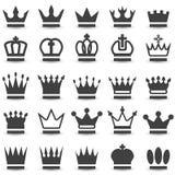 Korony kolekcja Zdjęcia Royalty Free