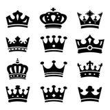 Korony kolekcja - wektorowa sylwetka Zdjęcia Royalty Free