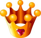 korony miłości princess Obrazy Royalty Free