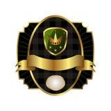 korony ramowej złotej etykietki królewska osłona Obrazy Royalty Free