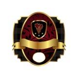 korony ramowej złotej etykietki królewska osłona Zdjęcie Royalty Free