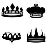 Korony ustawiać Obrazy Royalty Free